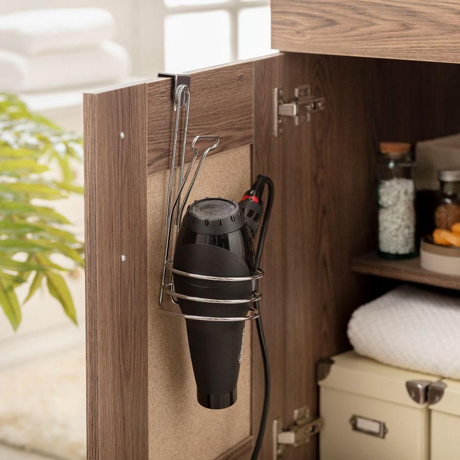 Gancho para secador de pelo que se cuelga en puerta