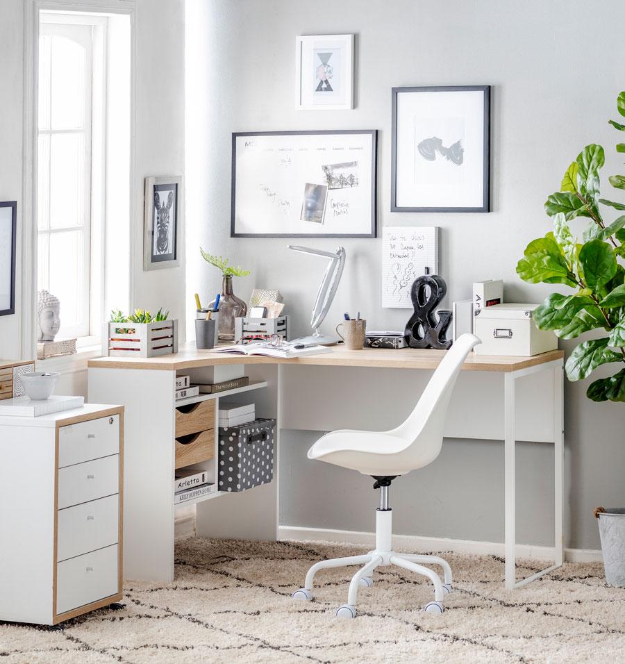Escritorio home office blanco