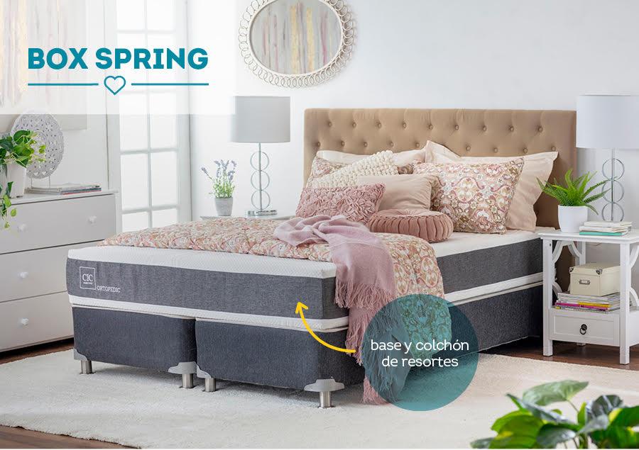 diferencia entre boxspring y cama americana y europea