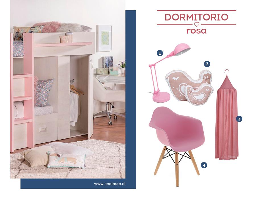 Dormitorio infantil en rosa