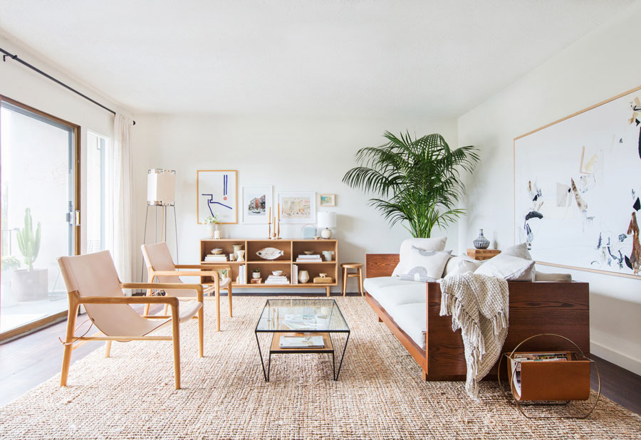 Tamaño grande de alfombra para un living espacioso