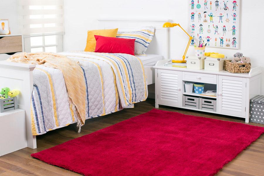 decoración de dormiotrio con alfombra