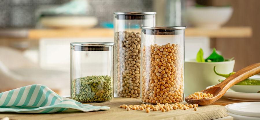 Residuo cero: frascos de vidrio para almacenar alimentos a granel