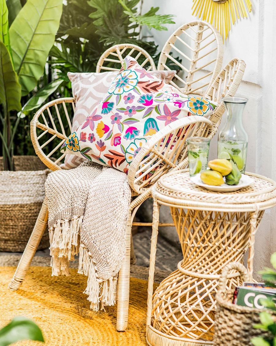 muebles terraza - Silla de mimbre libélula