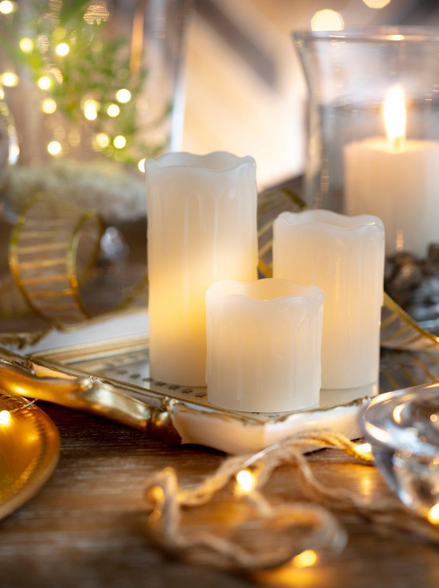 set de 3 velas led