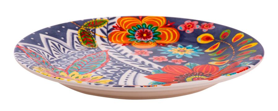 Plato de cerámica con flores