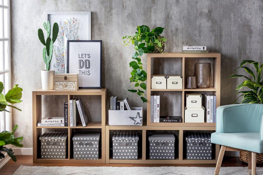 decorar un departamento cajas y repisas