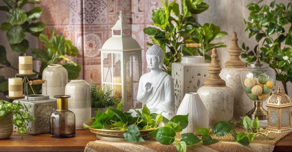 buddha plantas velas