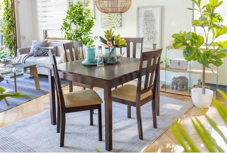 Mesa de comedor cuadrada espacios pequeños