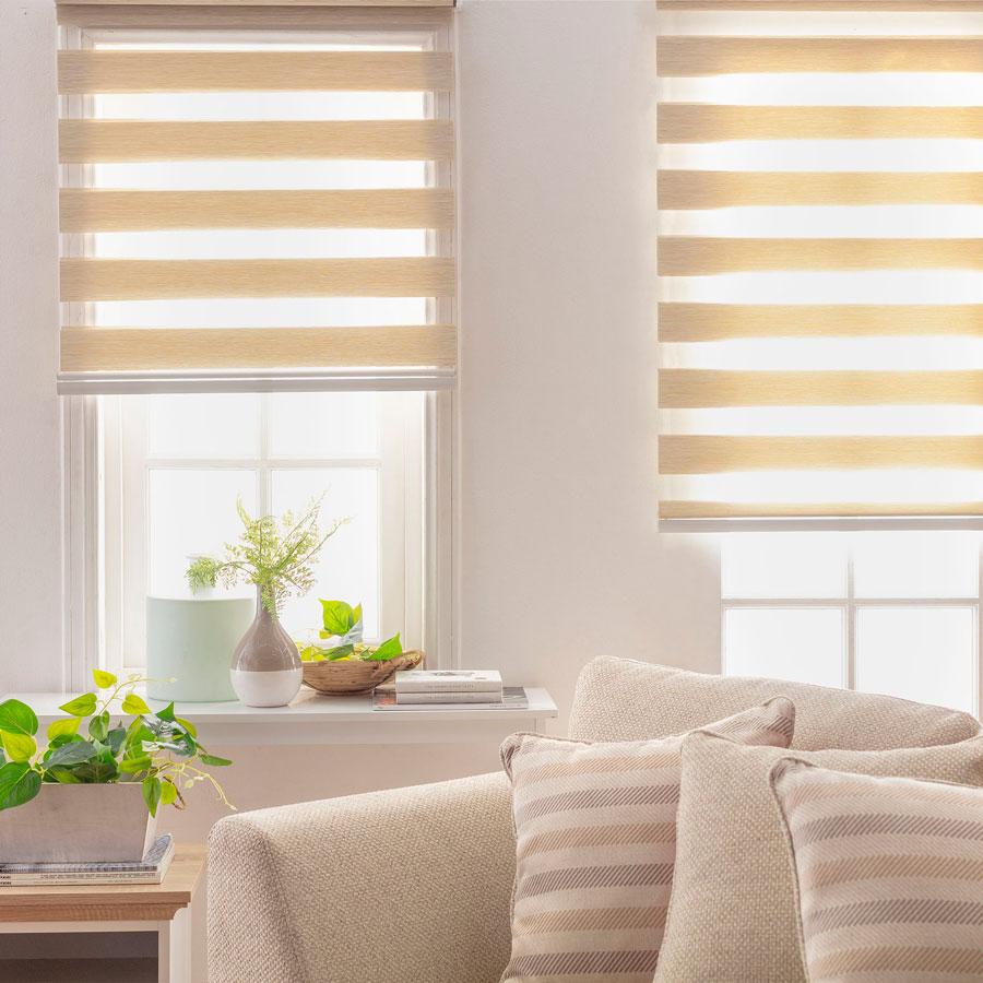 ventanas con cortinas roller