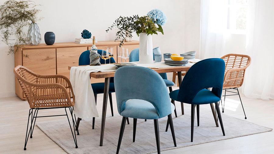 estilos de sillas mix and match