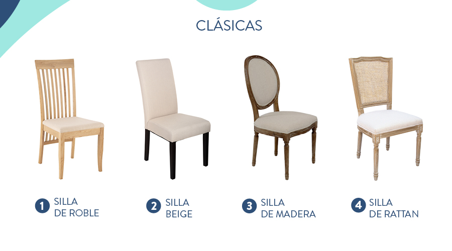 estilo de sillas clásico