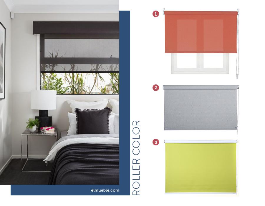 cortinas enrollables roller colores