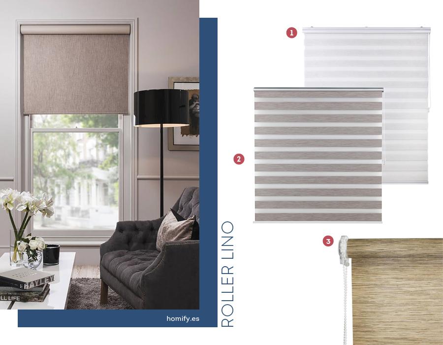 cortinas enrollables roller lino