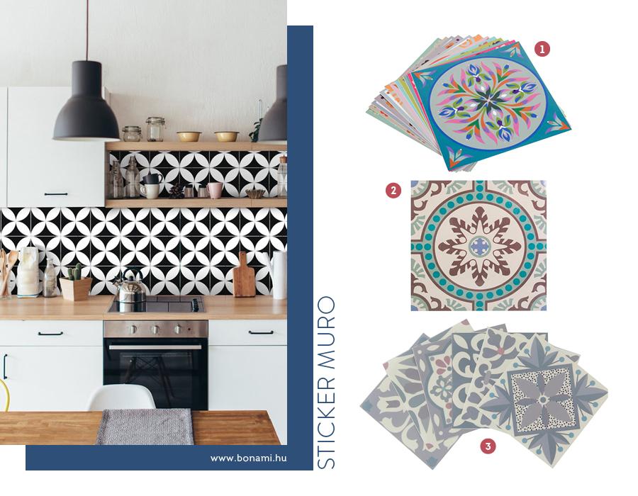 Variedad de azulejos adhesivos
