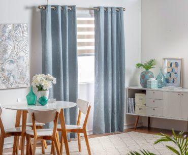 Elige el color perfecto de tus cortinas según el estilo de pared