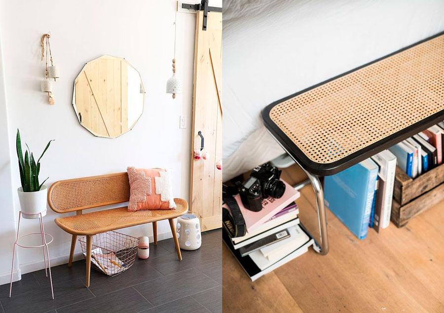 muebles modernos cannage banquetas