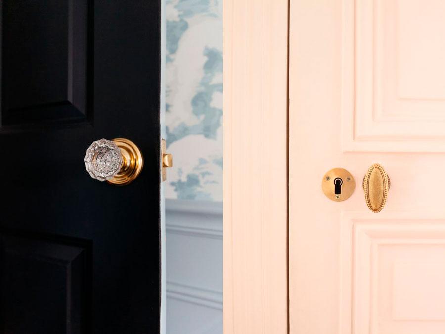 puertas interior de colores - manillas
