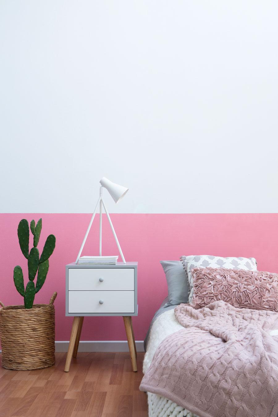 Tendencias para renovar el color se tus paredes: mitad pintada