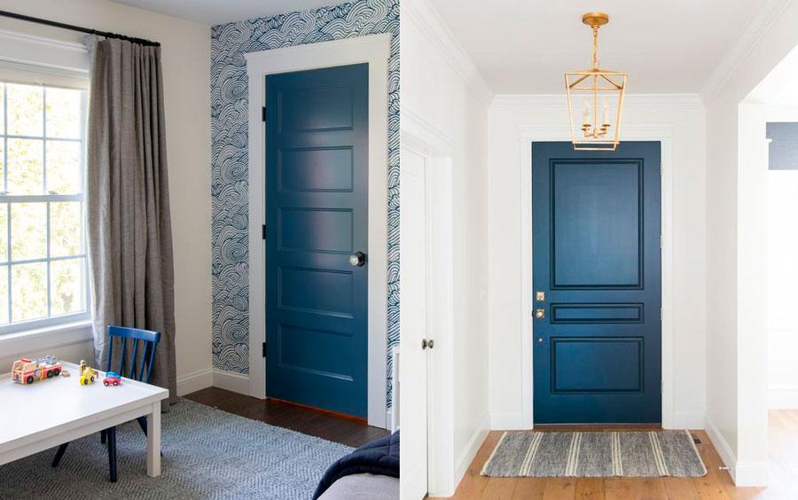 Puertas de interior de colores - azul