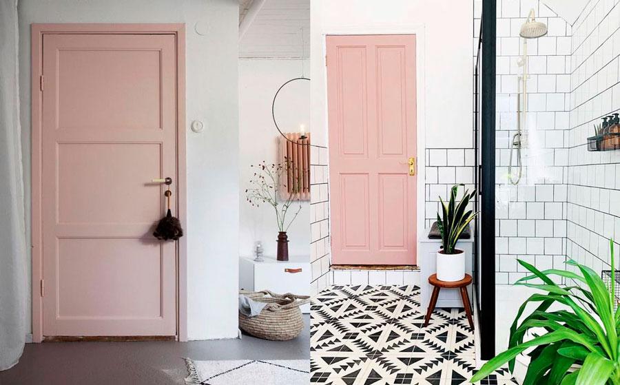 Puertas de interior de colores - rosado pálido