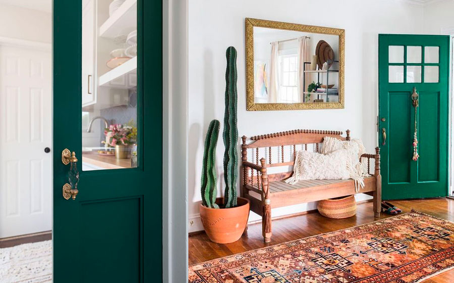 Puertas de interior de colores - tonos verdes