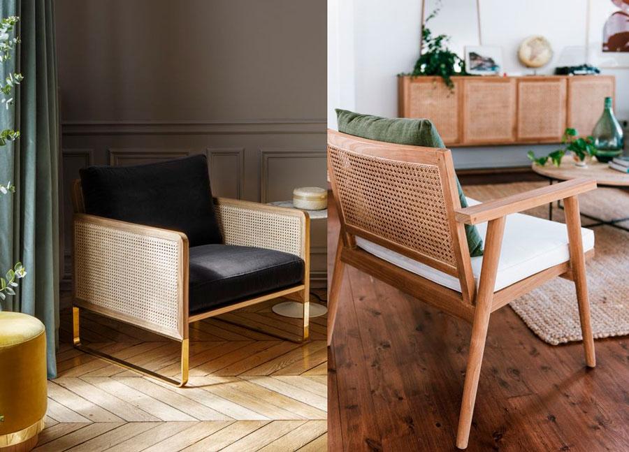muebles modernos de cannage - sillas y sillones