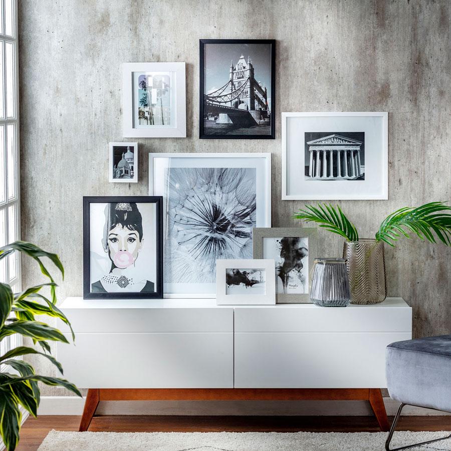 Renovación con poco presupuesto: muro galería