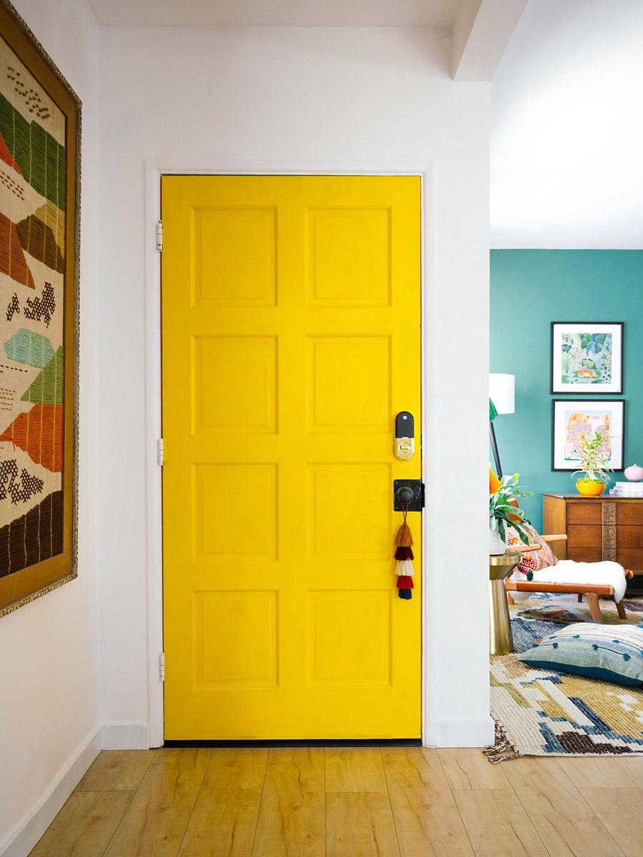 Puertas interior de colores - amarillo