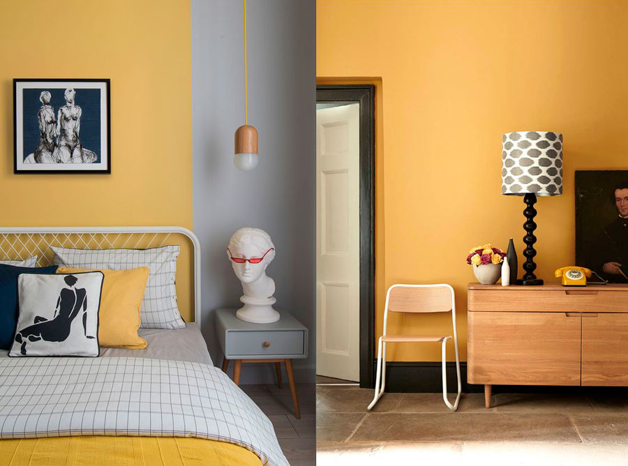 ocre color - para dormitorio y recibor