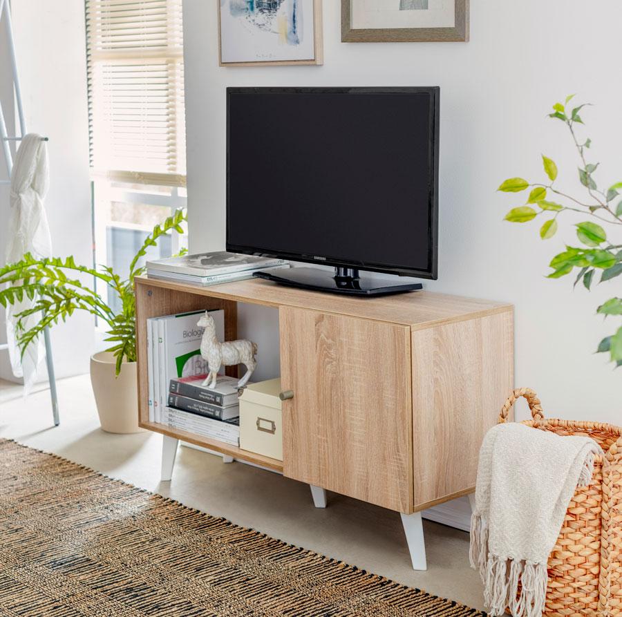 casa sana: televisor en el living con rack