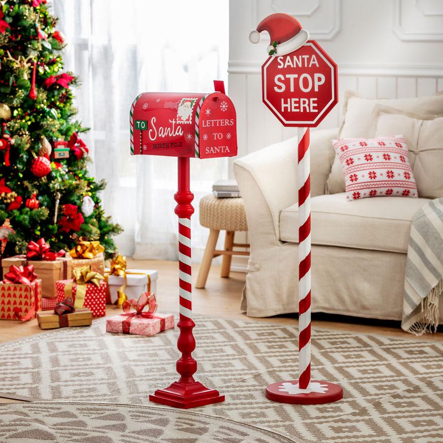 Estaca y buzon de navidad