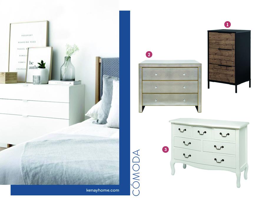 Dormitorio de pareja organizado con comodas