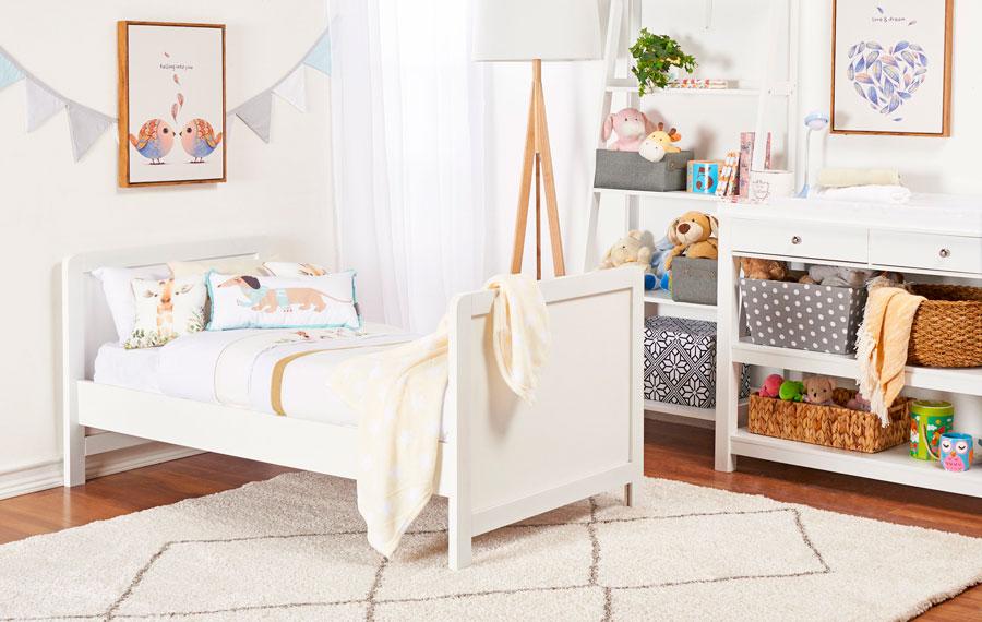 Ideas de cortinas para habitación de niños con colores claros