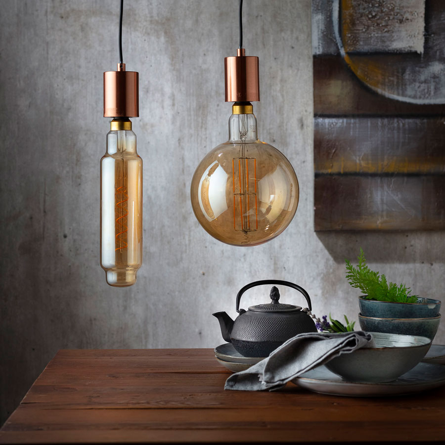 ampolletas de bajo consumo de look vintage para decoración ecológica
