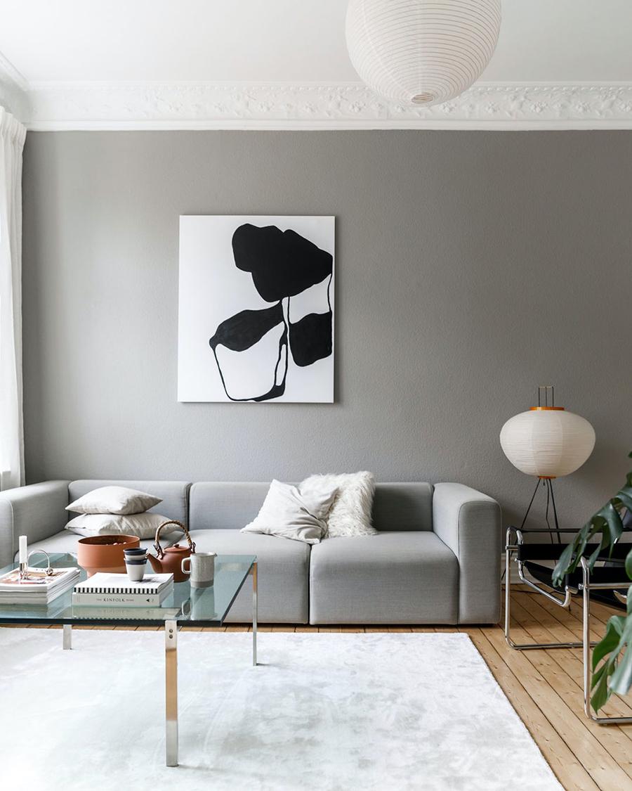 Un living con los elementos justos, que le dan un look minimalista al espacio.