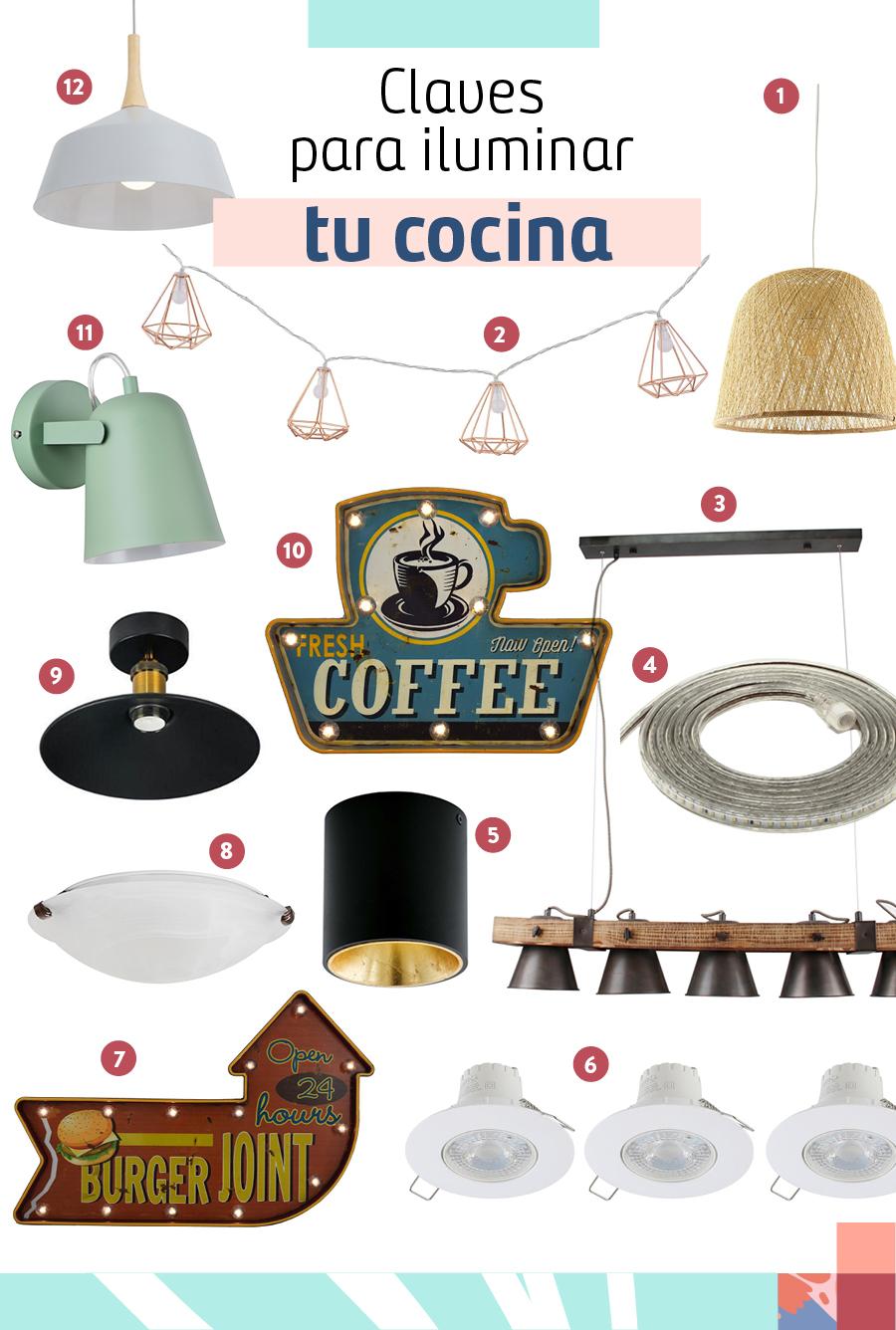 Selección de lámparas para cocina