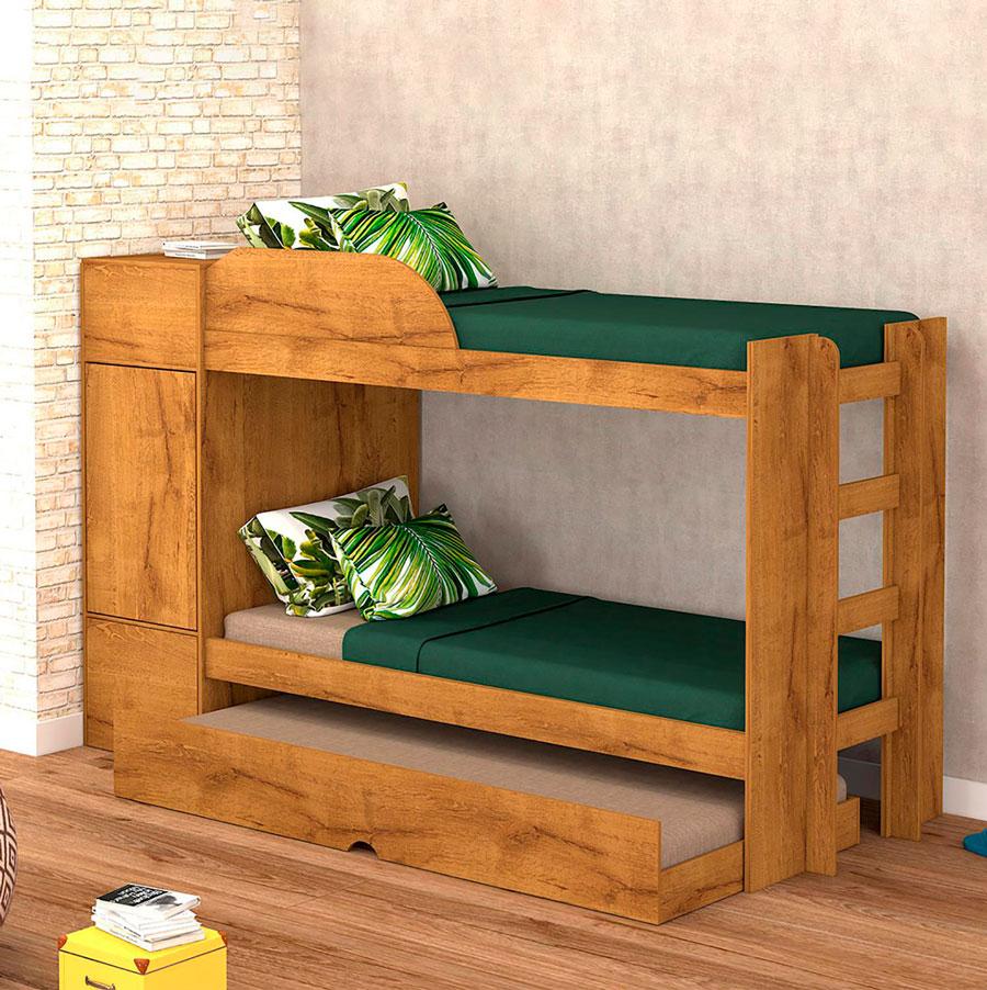 El camarote de madera combina con todo.