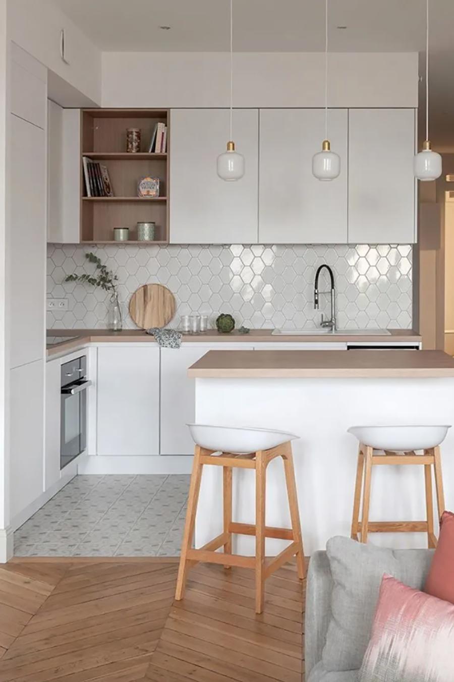 Las cocinas abiertas generalmente gozan de muy buena iluminación.
