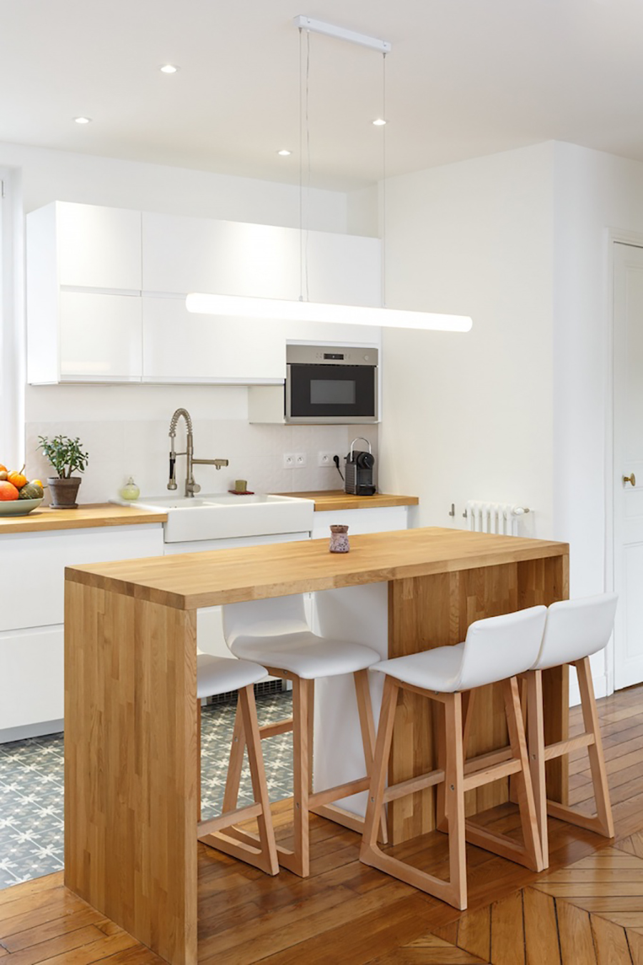 Las cocinas abiertas se ven muy amplias.