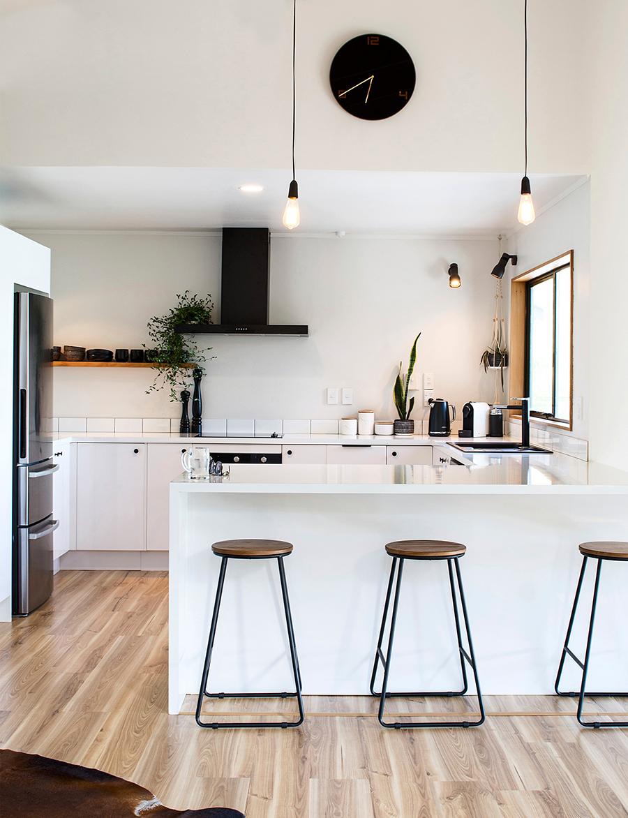 La cocina abierta es una buena opción para tener una casa con estilo.