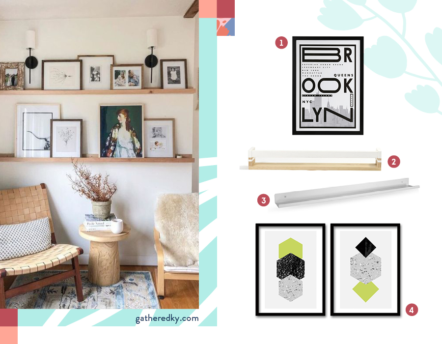 En la imagen se muestran repisas delgadas de madera para poner en las paredes y en la que puedes apoyar los marco de foto o pinturas.