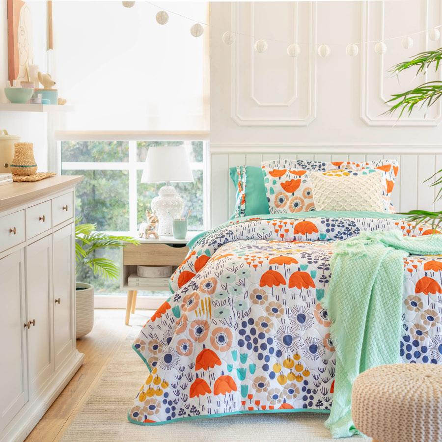Patrones coloridos para textiles infantiles esta primavera 2021.