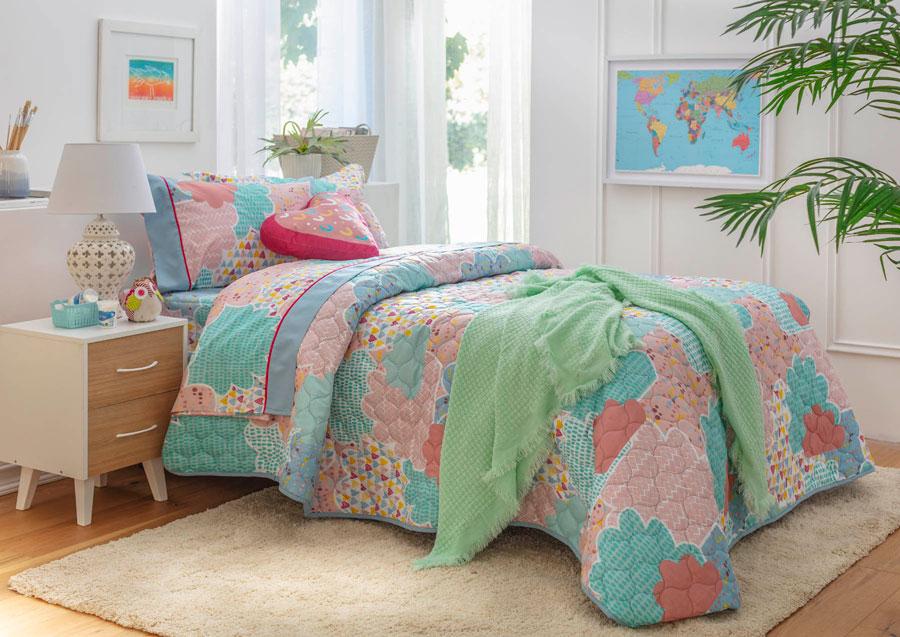 Tendencia para dormitorio juvenil en textiles: patchwork.