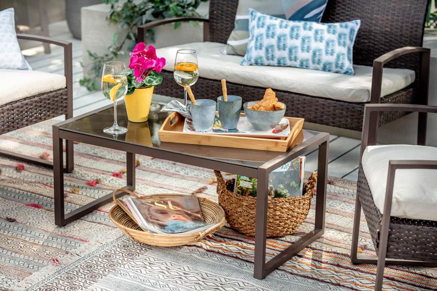 Los canastos te ayudarán a organizar tu terraza, pero también ¡le darán mucho estilo!
