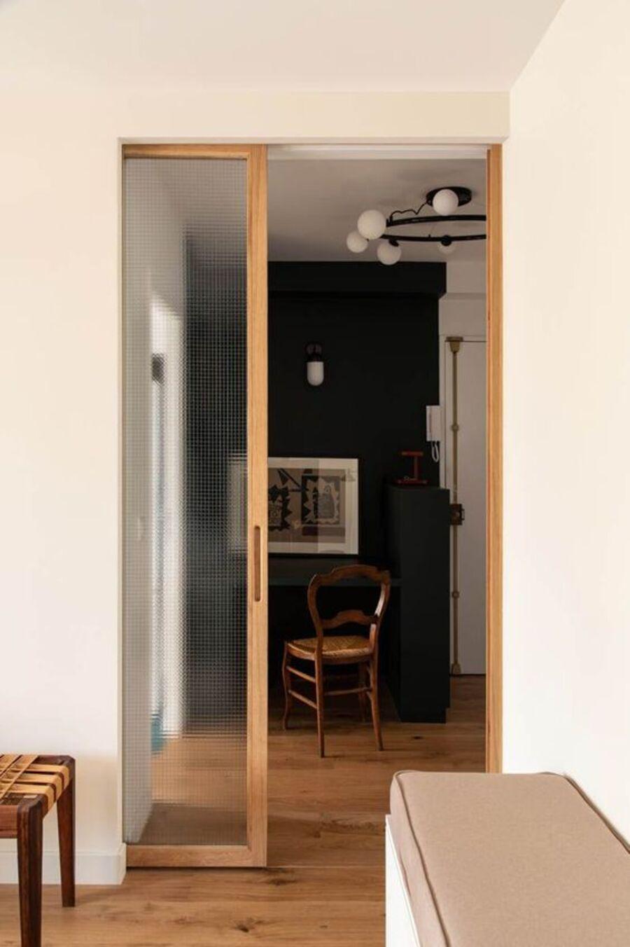 Las puertas correderas te ayudarán a optimizar el espacio.