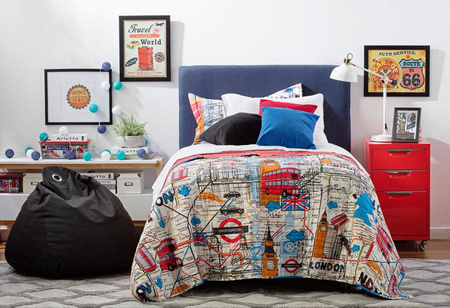guia dormitorio infantil juvienil cama