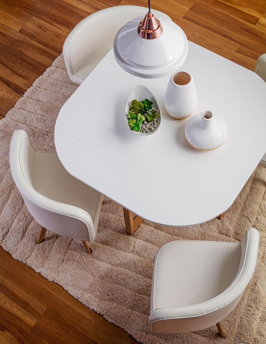 juego de comedor diseño sesentero estilo nórdico
