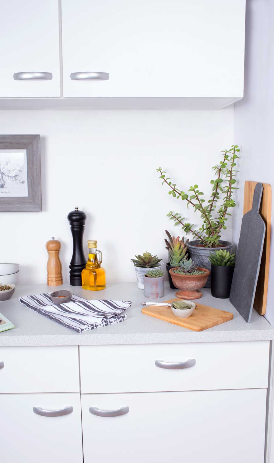 como sobrevivir cocina pequena encimera