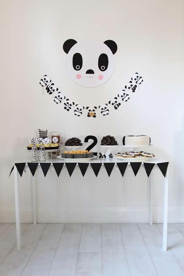 mesas dulces grandes y chicos blanco negro